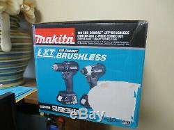 New! Makita 18V 2.0Ah Sub-Compact Lithium-Ion Brushless 2pc Combo Kit CX200RB