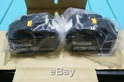 New Makita 18v Lithium-Ion Dual Battery Fast Charger + (2) 5.0 AH Batteries
