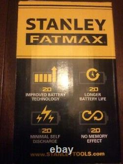 Stanley FatMax Lithium-Ion V20 18v 4.0Ah Battery-No Memory-No Self Discharge-New